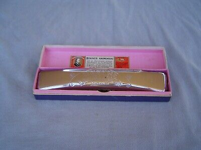$70.50 • Buy M. Hohner  Unsere Lieblinge  Curved Tremelo Harmonica In  G  & Original Box