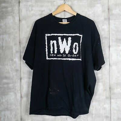 $ CDN50.12 • Buy NWO New World Order Vintage T-shirt Size 3XL Black WWF Professional Wrestling