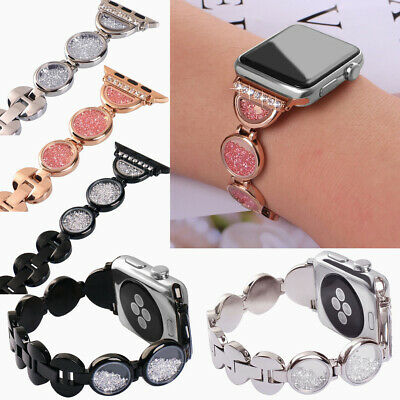 $ CDN37.89 • Buy For Apple Watch Diamond Band Bling Bracelet IWatch Women Series 6 5 4 3 2 1 SE