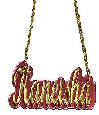 £19.71 • Buy Name Plate Custom Name Necklace Personalized Nameplate Gold With Quality Chain