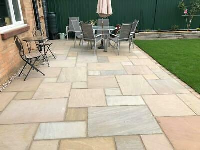 Paving Slabs Indian Sandstone | Raj Green | 22mm Thickness | Premium A-Grade • 433£