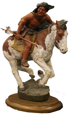 Monfort Native American Indian Hunter Statue Approx Size 12 Inches High • 189.99£
