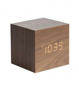Karlsson Wood Block Alarm Clock • 25£