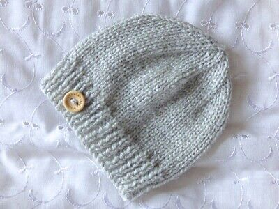 Newborn Baby Handmade Hand Knitted Hat Boy / Girl / Unisex Reborn Doll Gift Etc • 4.49£