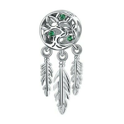 AU27.99 • Buy SOLID Sterling Silver Family Tree Dream Catcher Charm By Pandora's Wish
