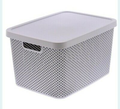£15.99 • Buy  LARGE DIAMOND PLASTIC STORAGE BOX 19 Liter WITH LID CONTAINER OFFICE KITCHEN