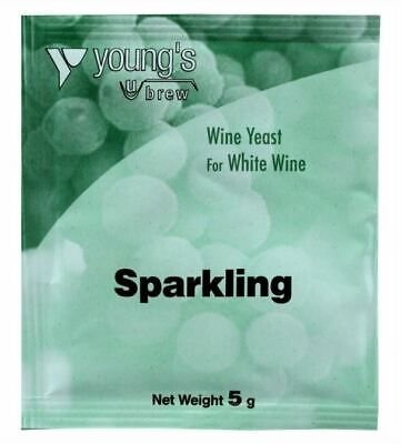 £2.99 • Buy YOUNG'S Sparkling Wine (Champagne) Yeast 5g - Treats 23L / 5 Gallon / 30 Bottles