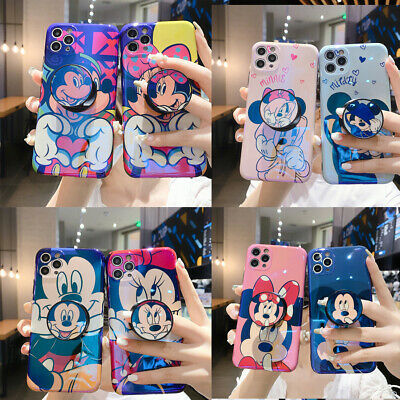 AU7.99 • Buy Disney Mickey Minnie Stand Holder Case Cover For IPhone 12 11 Pro XR XS Max 8 7
