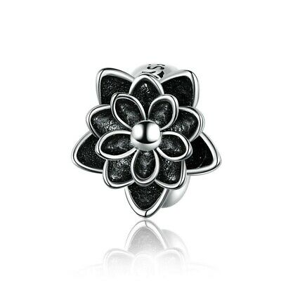 AU25.99 • Buy SOLID Sterling Silver Non Slip Spacer Lotus Flower Charm By Pandora's Wish