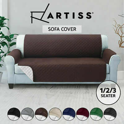 AU20.71 • Buy Sofa Cover Quilted Couch Covers Protector Slipcovers 1 2 3 Seater Pet Dog Lounge