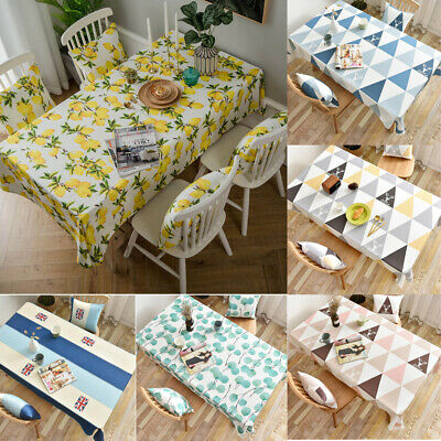 AU40.56 • Buy Waterproof Lemon Printed Tablecloth Table Cloth Cover Kitchen Dining Home Decor