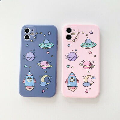 AU4.05 • Buy Cute Spaceship Planet Soft Case Cover For IPhone 12 Pro MAX 11 XR XS X 8 7 Plus