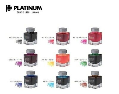 Platinum Fountain Pen Bottle Ink Mixable Ink Mini Choose From 9 Colors INKM-1000 • 19.82£