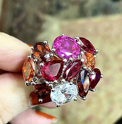 $70 • Buy ❤️Sterling CHARLES WINSTON CWE Size 7 Incredible Cocktail Ring MAGNIFICENT ‼️