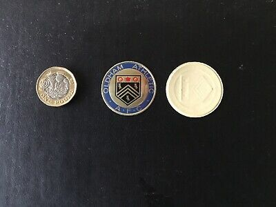 ESSO FOIL FOOTBALL CLUB BADGE OLDHAM ATHLETIC Unused  NOT A PIN BADGE • 1.99£