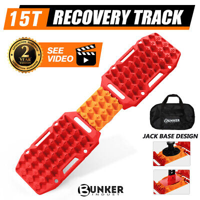 AU119.95 • Buy BUNKER INDUST Pair Recovery Tracks Sand Track 15T 4WD Car Accessories 4x4 Red