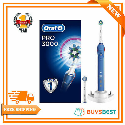 AU110.37 • Buy Oral-B Pro 3000 CrossAction Electric Toothbrush Rechargeable Powered By Braun