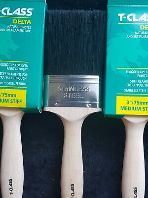 £6.99 • Buy T-class Delta Paint Brush 3  Brand New Top Quality Brush 3  75mm