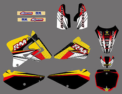 $49.99 • Buy Team Graphics Backgrounds Decals Stickers Kits For Suzuki RM 85 RM85 2002-2015