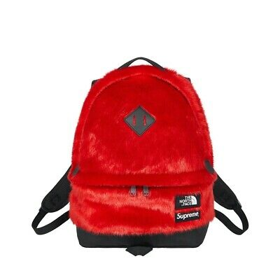 $ CDN312.09 • Buy Supreme / The North Face - Faux Fur Backpack Red IN HAND