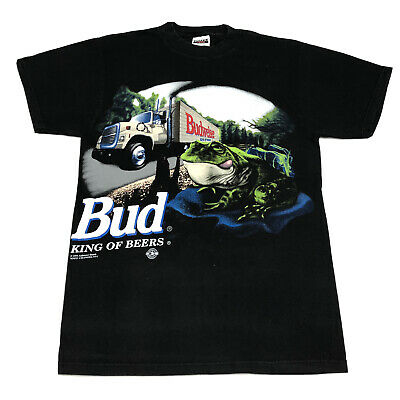 $ CDN63.80 • Buy Vintage 1995 Budweiser King Of Beers Frog T-Shirt Size M Made In USA Double Side