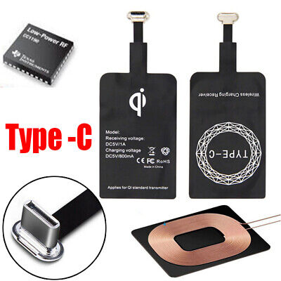 $ CDN4.26 • Buy Qi Wireless Fast Charger Receiver Pad Mat For Mobile Phone USB Type-C Charging