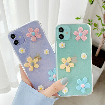 AU5.14 • Buy 3D Flower Cute Clear Soft Case Cover For IPhone 12 Pro Max 11 XR XS X 8 7 Plus 6