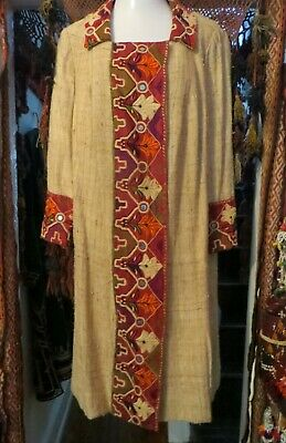£403.59 • Buy SALE 1920s Egyptian Revival/Deco Coat/Duster/Dress W/Embroidery/Mirrorwork