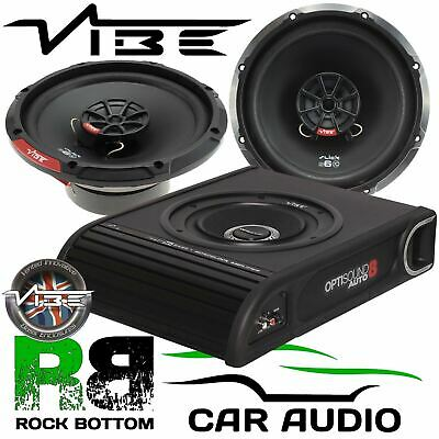 Mercedes Sprinter W906 2006 Vibe 900W Underseat Sub Front Door Car Speaker Kit • 179£