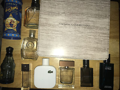 Mens EMPTY Aftershave Bottles X 11, Versace Lacoste Issey Miyake Armani Free P&P • 9.99£