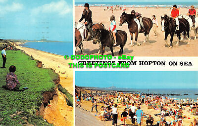 R525436 Greetings From Hopton On Sea. Sapphire Card. Multi View. 1978 • 7.99£
