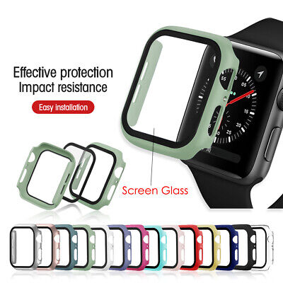 $ CDN6.96 • Buy For Apple Watch Series 3/4/5/6/SE Full Protective Cover Case / Screen Protector