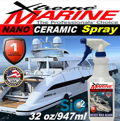 $84.95 • Buy Boat Wax Marine Grade Ceramic Clear Coat Spray Salt Resistance Protection Sio2