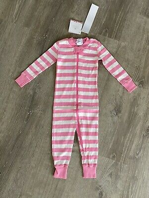 $19.99 • Buy New Girls Hanna Andersson PJs Pajamas Striped Pink Zip Toddler 18-24 Months