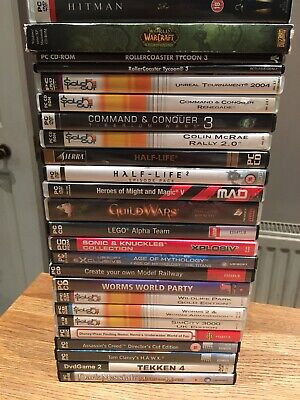 PC GAMES JOB LOT BUNDLE - 25 TITLES OF MIXED GENRES, ALL VGC. Offers Welcome • 35£