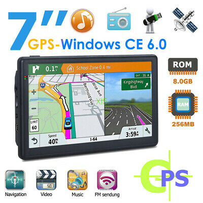 AU88 • Buy 7'' Truck Car GPS Navigator 8GB 256MB Navigation System Sat Nav Free Maps