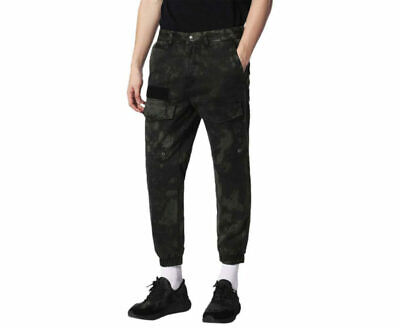 £49.99 • Buy DIESEL P ISAN Mens Chino Trousers Olive Green Cargo Pants Slim Fit Carrot