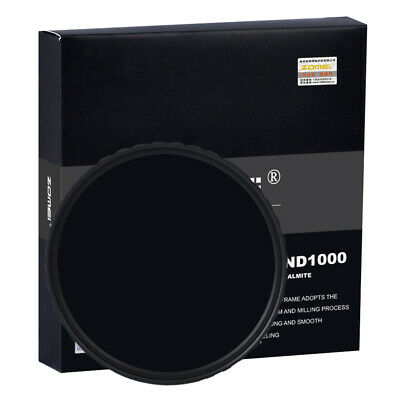 AU55.99 • Buy Zomei 67mm 10-stop HD Slim ND1000 Optical Glass Neutral Density Filter For DSLR
