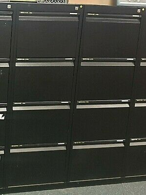 AU95 • Buy Statewide 4 Drawer Office Filing Cabinet Black - Used Excellent Condition As New