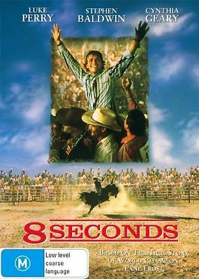AU8.90 • Buy Dvd 8 Seconds Luke Perry True Story Bullriding Brand New Unsealed Region 4