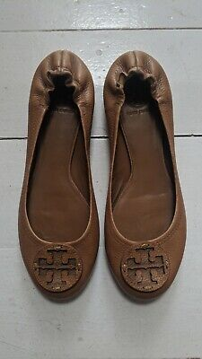 £92 • Buy TORY BURCH Reva Tan Leather Pumps Size UK 9 - Worn Once