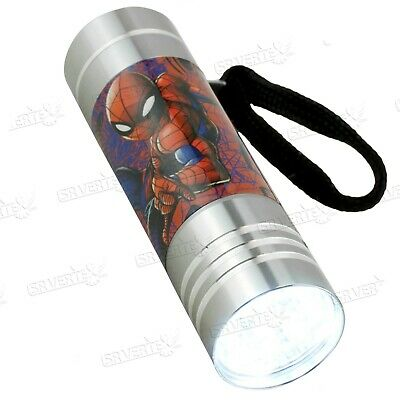 £9.49 • Buy Licensed Disney Character Spiderman Flash Light Silver LED Torch Xmas Gift 3+Y