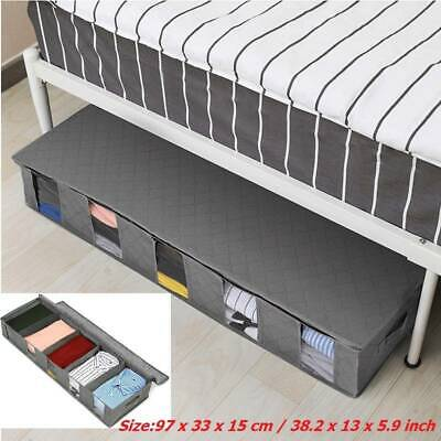 New Large Capacity Under Bed Storage Bag Box 5 Compartments Clothes Organizer / • 10.09£