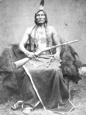 £3.99 • Buy Native American Indian Miniconjou Touch The Clouds 1877 Poster Wall Picture A4 +