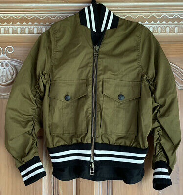 AU168.02 • Buy Veronica Beard Olive Green Bomber Varsity Baseball Jacket In Size 0