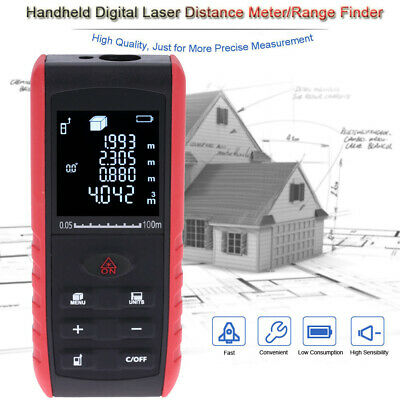 AU47.83 • Buy 100m Portable Handheld Digital  Distance Meter Range Finder Area E5K2