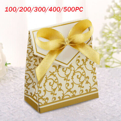 £4.59 • Buy 100/200/300/400/500 Wedding Favour Favor Gift Candy Boxes Bags Anniversary Party