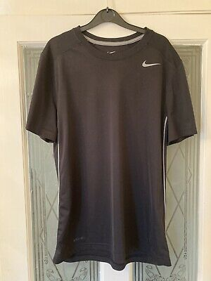 Nike Official Short Sleeve Base Layer Top Size M Black Brand New UK • 11£