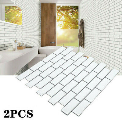 2PC 3D Self Adhesive Kitchen Wall Tiles Bathroom Mosaic Tile Stickers Peel Stick • 8.84£