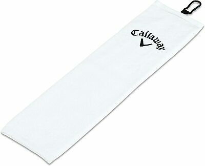 £9.17 • Buy New Callaway Tri-Fold Cotton 16 X21  Soft Absorbant White Cart Bag Golf Towel